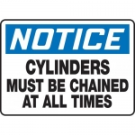 """Accuform MCPG801VA, Sign """"Cylinders Must Be Chained at All Times"""""""