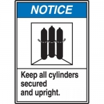 "Accuform MCPG807VA, Sign ""Keep All Cylinders Secured and Upright"""