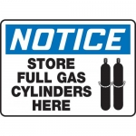 """Accuform MCPG808XF, OSHA Sign """"Notice Store Full Gas Cylinders Here"""""""