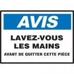 """Accuform MCRS802XL, French Sign """"Lavez-Vous Les Mains Avant De…"""""""
