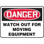 "Accuform MCRT001VS, OSHA Sign ""Danger Watch Out for Moving Equipment"""