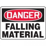 "Accuform MCRT008VA, Aluminum OSHA Sign ""Danger Falling Material"""