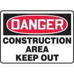 "Accuform MCRT011XT, OSHA Sign ""Danger Construction Area Keep Out"""