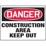 "Accuform MCRT012VA, BIGSigns OSHA Sign ""Construction Area Keep Out"""