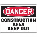 "Accuform MCRT012XT, BIGSigns OSHA Sign ""Construction Area Keep Out"""