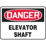 "Accuform MCRT019XL, Aluma-Lite OSHA Sign ""Danger Elevator Shaft"""