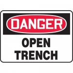 "Accuform MCRT022VA, Aluminum OSHA Sign ""Danger Open Trench"""