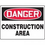 "Accuform MCRT100XT, BIGSigns OSHA Sign ""Danger Construction Area"""
