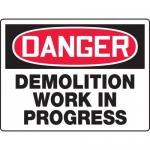 "Accuform MCRT102XT, BIGSigns OSHA Sign ""Demolition Work in Progress"""