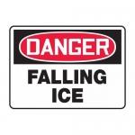 "Accuform MCRT105VA, Aluminum OSHA Sign ""Danger Falling Ice"""