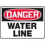 "Accuform MCRT107XP, Accu-Shield OSHA Sign ""Danger Water Line"""