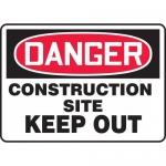 "Accuform MCRT108XL, OSHA Sign ""Danger Construction Site Keep Out"""