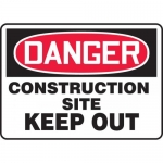 "Accuform MCRT108XT, OSHA Sign ""Danger Construction Site Keep Out"""