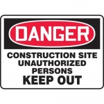 "Accuform MCRT124VS, Sign ""Construction Site Unauthorized Persons…"""