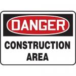 "Accuform MCRT127XF, OSHA Sign ""Danger Construction Area"""