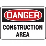 "Accuform MCRT135VA, Aluminum OSHA Sign ""Danger Construction Area"""