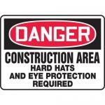 "Accuform MCRT138XT, OSHA Sign ""Construction Area Hard Hats…"""