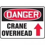 """Accuform MCRT145VA, OSHA Sign """"Crane Overhead"""" & Up Arrow Symbol"""