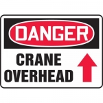 "Accuform MCRT145VP, OSHA Sign ""Crane Overhead"" & Up Arrow Symbol"