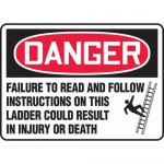 """Accuform MCRT150VP, Sign """"Failure to Read and Follow Instructions…"""""""