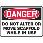 """Accuform MCRT152VP, Sign """"Do Not Alter or Move Scaffold While in Use"""""""
