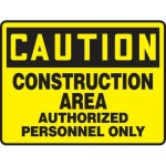 "Accuform MCRT602VA, Sign ""Construction Area Authorized Personnel Only"""