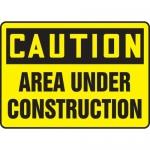 "Accuform MCRT609XT, OSHA Sign ""Caution Area Under Construction"""