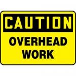 "Accuform MCRT614XL, Aluma-Lite OSHA Sign ""Caution Overhead Work"""
