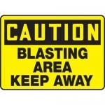 "Accuform MCRT619XP, OSHA Sign ""Caution Blasting Area Keep Away"""