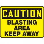 "Accuform MCRT619XT, OSHA Sign ""Caution Blasting Area Keep Away"""