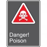 """Accuform MCSA117VA, 14″ x 10″ Aluminum CSA Sign: """"Danger Poison"""""""
