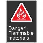 """Accuform MCSA140XT, Dura-Plastic Sign """"Danger! Flammable Materials"""""""