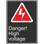 "Accuform MCSA143VP, 14″ x 10″ Plastic Sign: ""Danger! High Voltage"""