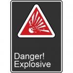 "Accuform MCSA145XV, Adhesive Dura-Vinyl Sign ""Danger! Explosive"""