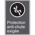 "Accuform MCSA518VS, Vinyl CSA Sign ""Protection Anit-Chute Exigee"""