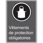 "Accuform MCSA526VS, CSA Sign ""Vetements De Protection Obligatoires"""