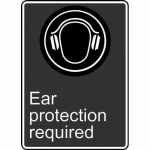 """Accuform MCSA563VS, Adhesive Vinyl Sign """"Ear Protection Required"""""""