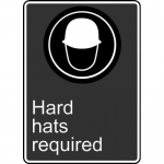 """Accuform MCSA567XT, 14″ x 10″ Dura-Plastic Sign: """"Hard Hats Required"""""""