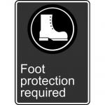 """Accuform MCSA570VS, Adhesive Vinyl Sign """"Foot Protection Required"""""""