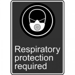 """Accuform MCSA573VS, Vinyl Sign """"Respiratory Protection Required"""""""
