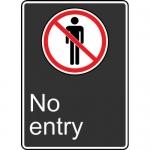 """Accuform MCSA580XL, 14″ x 10″ Aluma-Lite Sign: """"No Entry"""""""