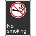 "Accuform MCSA583VA, 14″ x 10″ Aluminum Sign with Legend: ""No Smoking"""