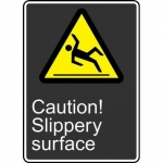 "Accuform MCSA620XF, Dura-Fiberglass Sign ""Caution Slippery Surface"""
