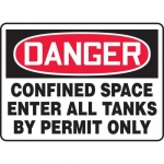 """Accuform MCSP005XP, Sign """"Confined Space Enter All Tanks By Permit…"""""""