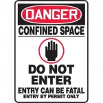 "Accuform MCSP009XL, Sign ""Confined Space Do Not Enter Entry Can Be…"""