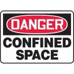 "Accuform MCSP010XV, Dura-Vinyl OSHA Sign ""Danger Confined Space"""