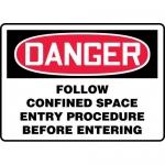 "Accuform MCSP012XP, Sign ""Follow Confined Space Entry Procedure…"""