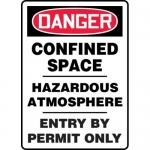 """Accuform MCSP016XP, Sign """"Confined Space Hazardous Atmosphere…"""""""