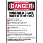 "Accuform MCSP017XL, OSHA Sign ""Confined Space Enter By Permit Only"""