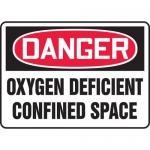 """Accuform MCSP022XP, OSHA Sign """"Oxygen Deficient Confined Space"""""""